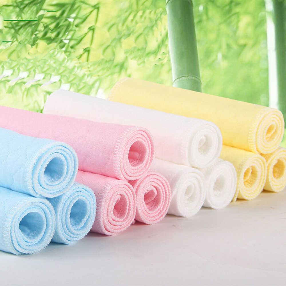 1 ชิ้นที่มีประโยชน์ 3 ชั้นล้างทำความสะอาดได้ไม้ไผ่ผ้าฝ้ายเด็กผ้าอ้อม Breathable แทรก Boosters Liners 2018 ใหม่