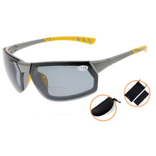 TH6157PGSG Eyekepper TR90 Unbreakable Sports Polycarbonate Polarized Bifocal Sunglasses