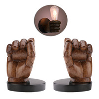 American Vintage Industrial Style Personality Loft Fist Resin Bedside Wall Lights Aisle Balcony Light Wall Lamp Holder Gadgets