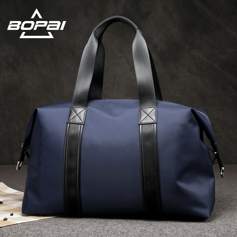 BOPAI 2017 Men Travel Duffle Bags Very Good Load Bearing Women Overnight Weekend Travel Shoulder Bags Black Blue Unisex valise