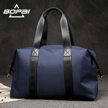 BOPAI 2019 Men Travel Duffle Bags Very Good Load Bearing Women Overnight Weekend Travel Shoulder Bags Black Blue Unisex valise - DISCOUNT ITEM  25% OFF All Category