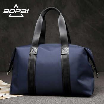 BOPAI 2019 Men Travel Duffle Bags Very Good Load Bearing Women Overnight Weekend Travel Shoulder Bags Black Blue Unisex valise - Category 🛒 Luggage & Bags