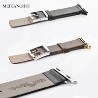 MEIKANGHUI Genuine Leather Watchbands Fits All Of Apple Watch Series 38 Mm 42 Mm I Watch