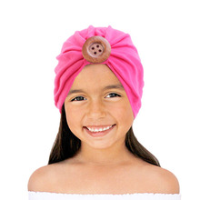 Solid Cotton wood Turban Headband For Girls cotton Stretchy Beanie Hat Headwear Baby Hair Accessories jrfsd solid color knotting headband cotton material hair accessories suitable for 0 7 year old kid hair bands for girls headwear