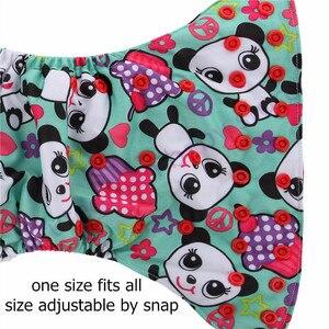 Image 4 - 3pcs 더블 거싯 PUL 포켓 기저귀; 재사용 가능한 아기 천 기저귀; 빨 아기 기저귀 바지; 생태 기저귀 아기 기저귀 커버