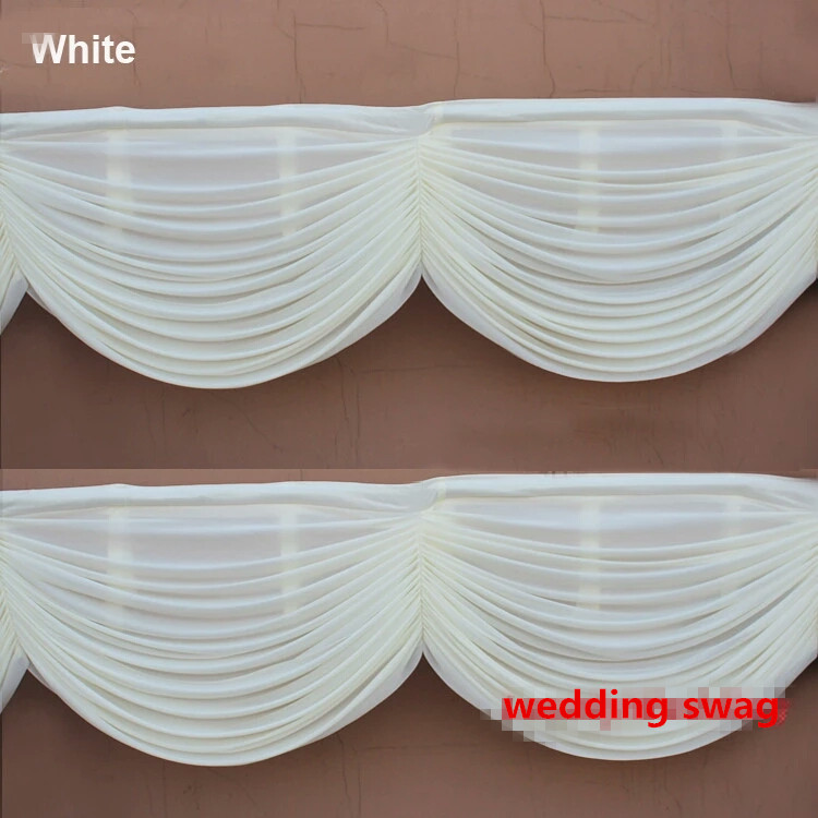 6m length 20ft Wedding backdrop swags ice silk table skirt hotel banquet backdrop decoration detachable wedding curtain swags-in Party Backdrops from Home & Garden    3