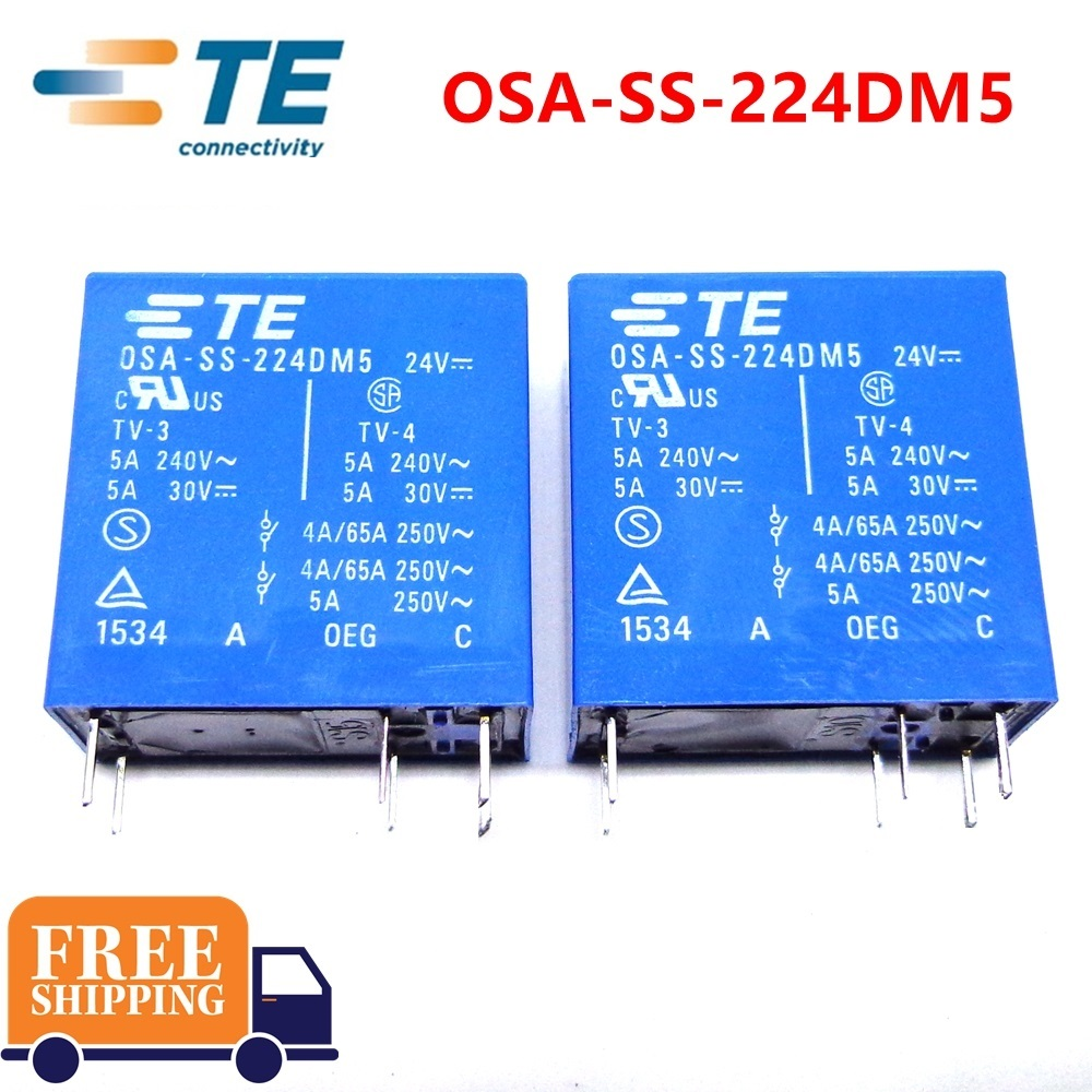 10PCS TE TYCO Relay OSA SS 224DM5 24VDC relay Brand new and original-in Relays from Home Improvement