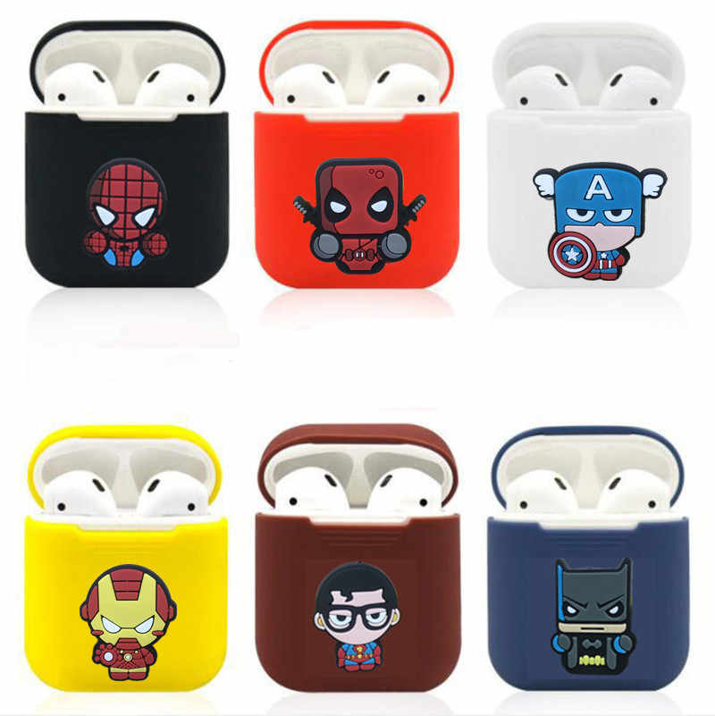 Cute Cartoon Wireless Bluetooth Earphone Case For Apple AirPods Silicone Charging Headphones Cases for Airpods Protective Cover