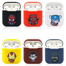 Cute Cartoon Wireless Bluetooth Earphone Case For Apple AirPods Silicone Charging Headphones Cases for Airpods Protective Cover 3d cute big hero wireless bluetooth earphone for apple airpods 1 2 silicone charging headphones cases baymax airpods pro covers