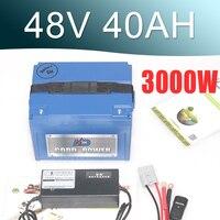48 В 40AH Электрический велосипед батарея 48 В Электрический аккумулятор велосипедов с 3000 Вт bms