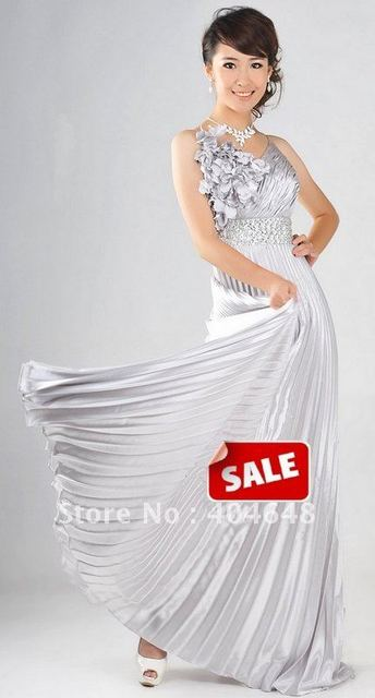 evening beautiful dress / sleeveless /  Full-length / white purple gold red four colors / For dance wear, chair / 0222