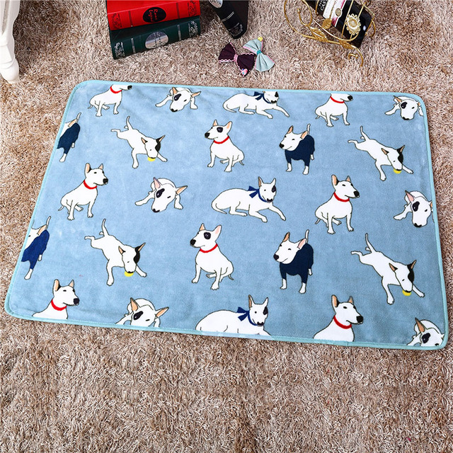 Warm Soft Fleece Pet Dog Cat Bed Mats House Animal Printed Thicken Winter Blanket Cover For Small Medium Large Puppy Cat Dogs