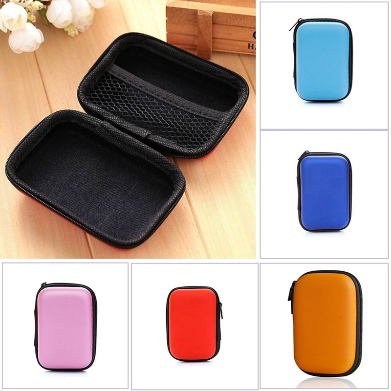 Candy Colored Girls Coin Bags Women Key Wallets Cute PU Mini Square Storage Hard Bag Case Holder For SD TF Card Earphone