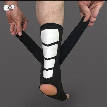 2 PCS sport oddychająca wsparcie kostki Protector regulowany bandaż orteza stawu skokowego Pad ochrony elastyczna Soccer Brace straż pomoc