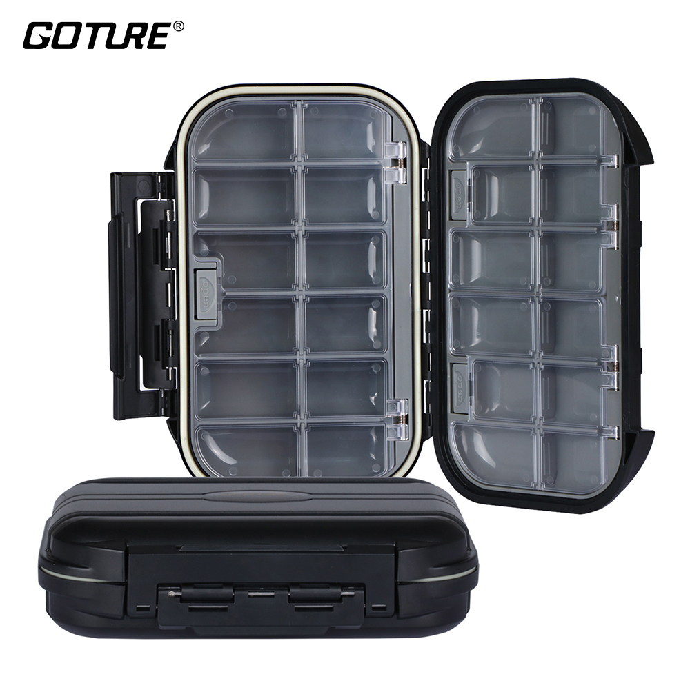 Goture Fishing Accessories Tackle Boxes Double Layer 24 Compartments Hard Plastic ABS Waterproof <font><b>Floating</b></font> Lure Fishing Box