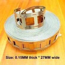 1 kg 2 및 2 문자열 18650 리튬 배터리 스폿 용접 니켈 시트 연결 조각 0.15mm * 27mm 브래킷이있는 니켈 시트