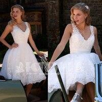 New Beaded White Lace Prom Dress Abendkleider 2019 Robe De Soiree V Neck Formal Party Gowns Vestidos De Fiesta Curto