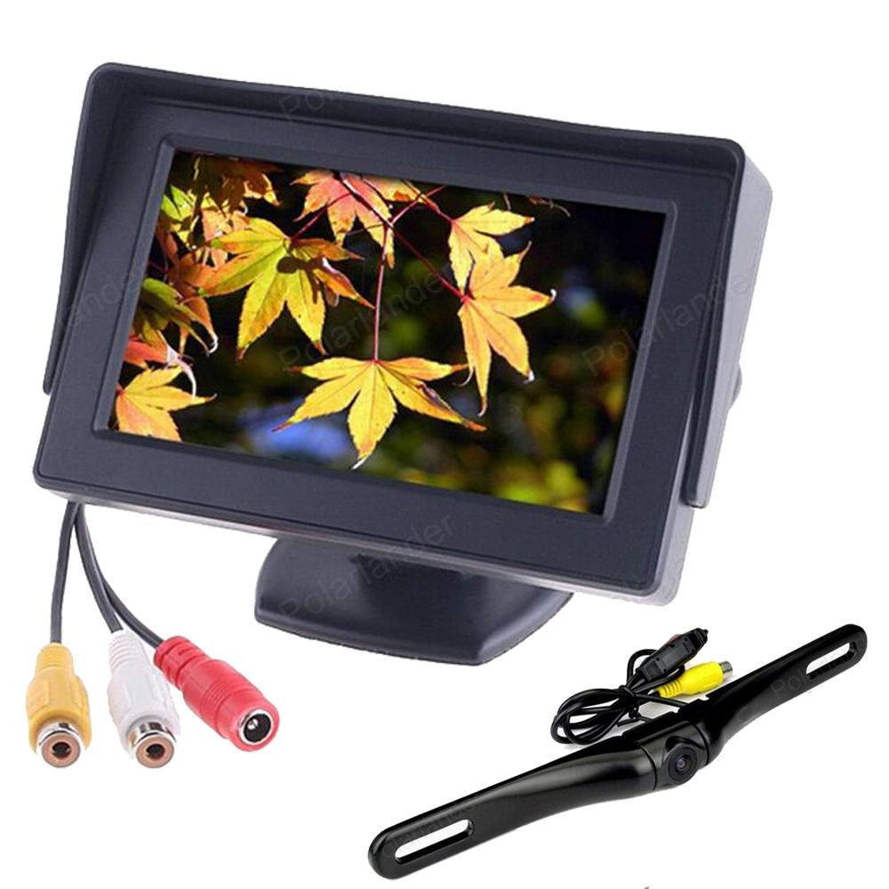 4.3 inch 2 ch video input Car Rear View monitor Waterproof rearview Reverse Backup Camera parking system