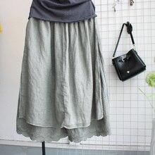 Японский стиль Харадзюку Мори, широкие кружевные штаны для девочек льняные, хлопковые, из искусственного материала, женские штаны с эластичным поясом в стиле хиппи, штаны в стиле бохо