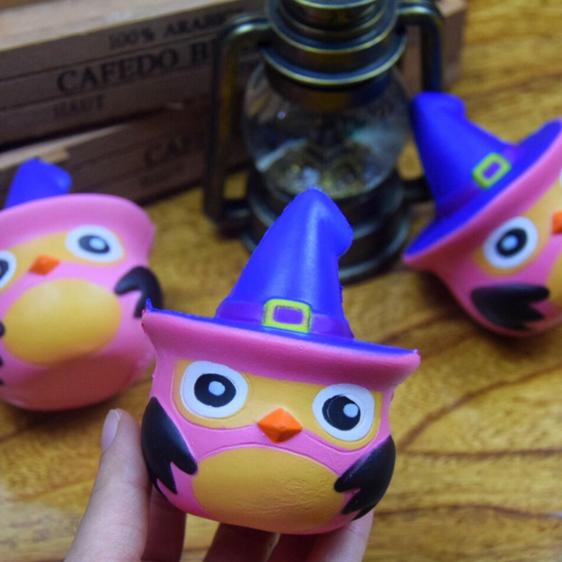 Cartoon Toy Detective Owl With Hat Slow Rising Scented Gift Toys for Kids New Year Decom ...