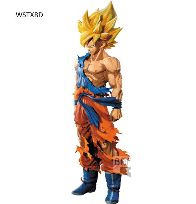 WSTXBD BANPRESTO Original Dragon ball Z DBZ SMSP Goku Manga Color PVC Figure Toys Figurals Model Dolls Brinquedos new original dragon ball z dbz blue god vegetto final pvc figure toys figurals model kids dolls