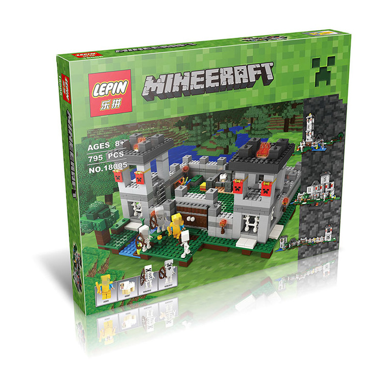 Model building kits compatible with lego 21127 18005 my worlds MineCraft The Fortress Educational toys hobbies for children 18003 model building kits compatible my worlds minecraft the jungle 116 tree house model building toys hobbies for children