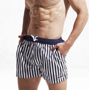 DESMIIT Beach   Shorts   Mens Swimming   Shorts   Swimwear Men Stripes Surf Boardshorts For Man Swim   Short   Sea   Board   Bathing Suit Wear