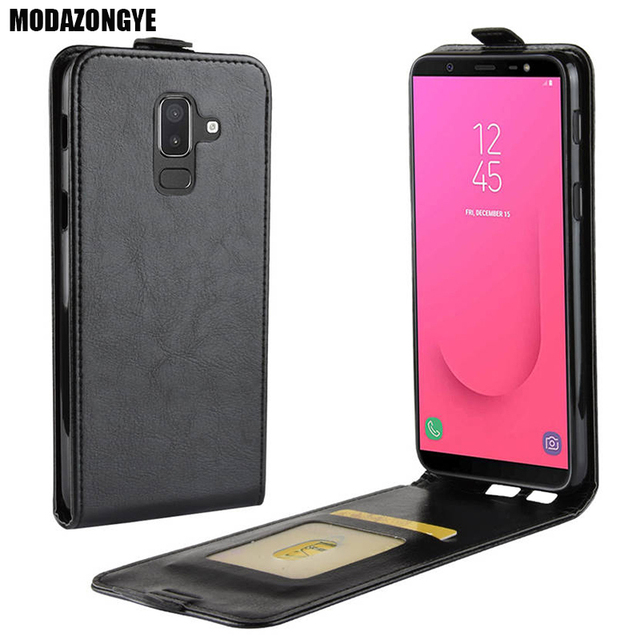 hot sale online 1b9df 45a1e US $3.78 10% OFF|For Samsung Galaxy J8 2018 Case PU Leather Back Cover  Phone Case For Samsung Galaxy J8 2018 J810F J810 SM J810F J 8 Case Flip-in  Flip ...
