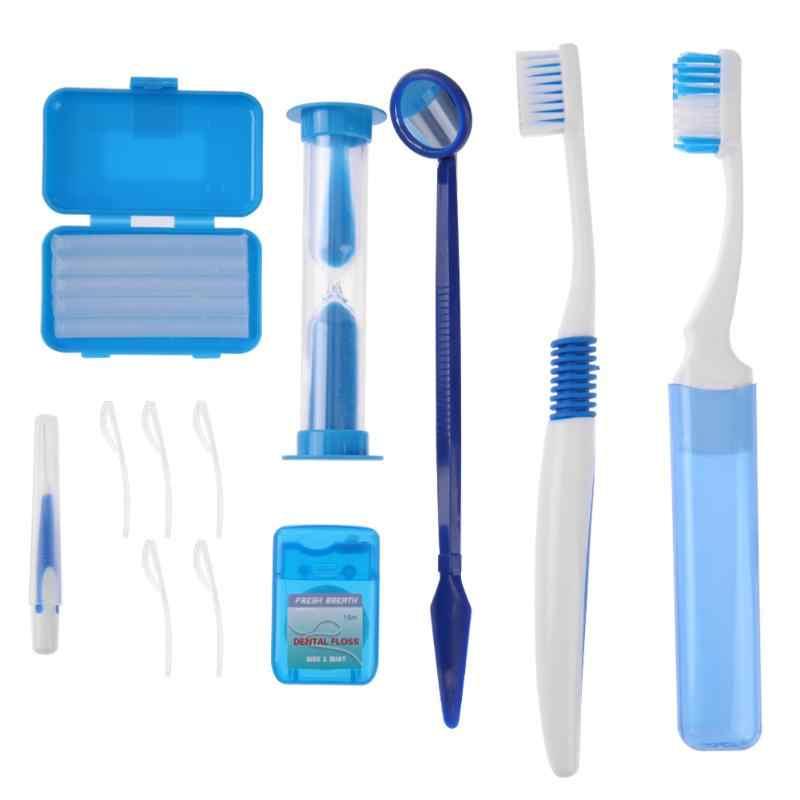 8 unids set herramientas limpias orales ortodoncia Cuidado Oral Kit dientes  blanqueamiento traje cepillo de b3ddadf4d798
