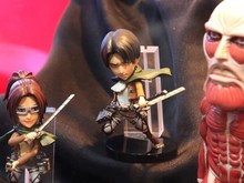 6pcs/set Attack on Titan Levi Mikasa Eren Action figure Anime Doll Cartoon Figure PVC Collection Model Toy for friends gift