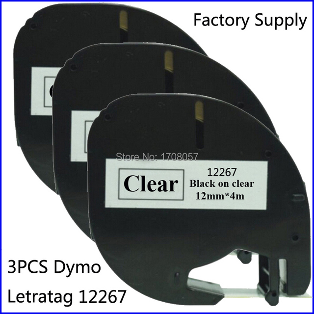 Aliexpress Buy 3PCS Compatible Dymo Letratag Plastic 12mm – Free Shipping Label Maker