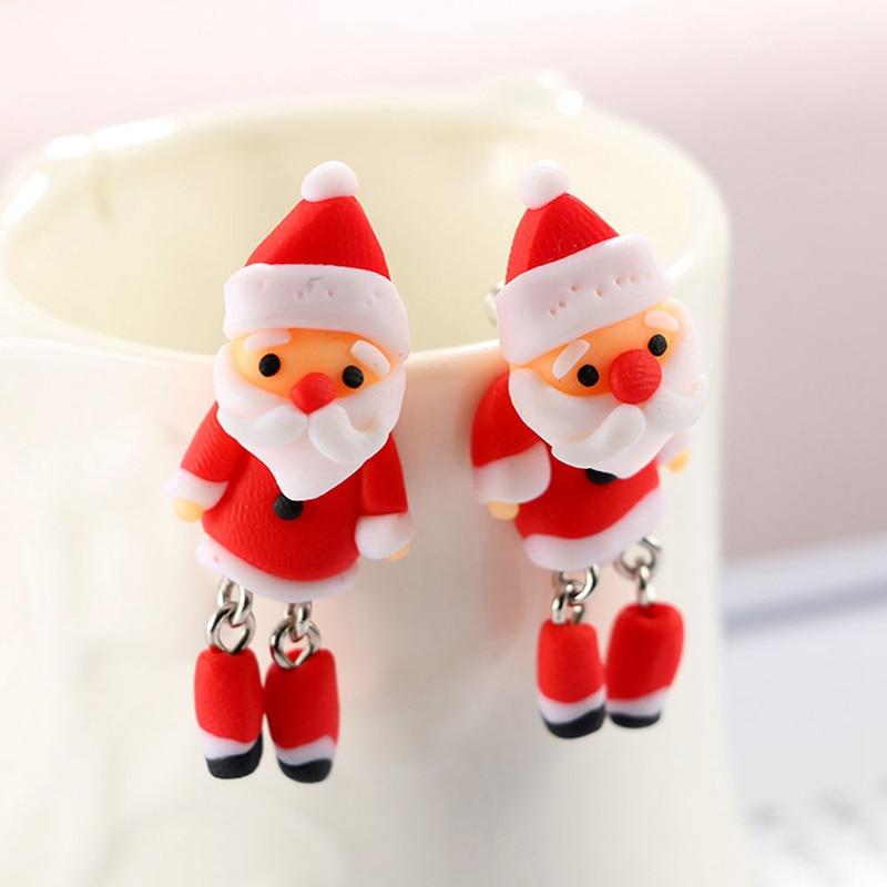 Christmas Gift New Cute Soft Drop Earrings For Women Handmade Creative Ear Jewelry Earrings