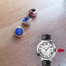 Couronne de montre en cristal saphir Bleu, étanche, pour montre Ballon Bleu, ajustable, pièces de temps