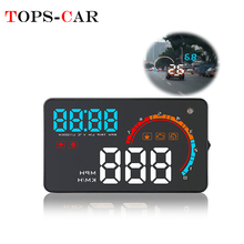 GEYIREN D2000 Car OBD2 GPS HUD Speedometer OBDII Head-Up Display Speed RPM Fuel Consumptions Dashboard Windshield Projector цена и фото