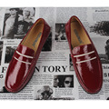 2017 New Spring /Summer Men Moccasins Genuine Leather Casual Japanned low-top Breathable Driving Men slip-on Flats Loafers Shoes