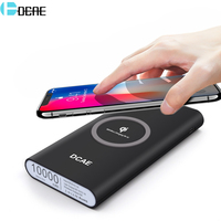 DCAE Qi Wireless Power Bank 10000mAh Charger Fast Charging Pad For Samsung S8 S9 Plus S7