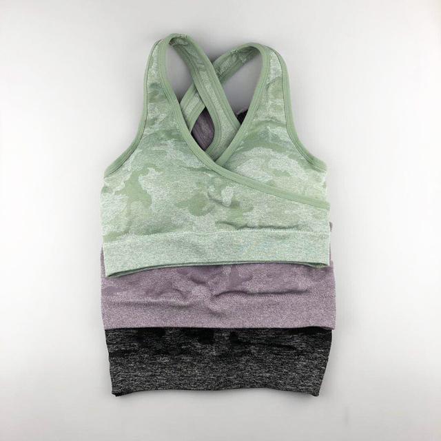 Women's Camouflage Print Yoga Bra and Leggings Set 3 styles S-L