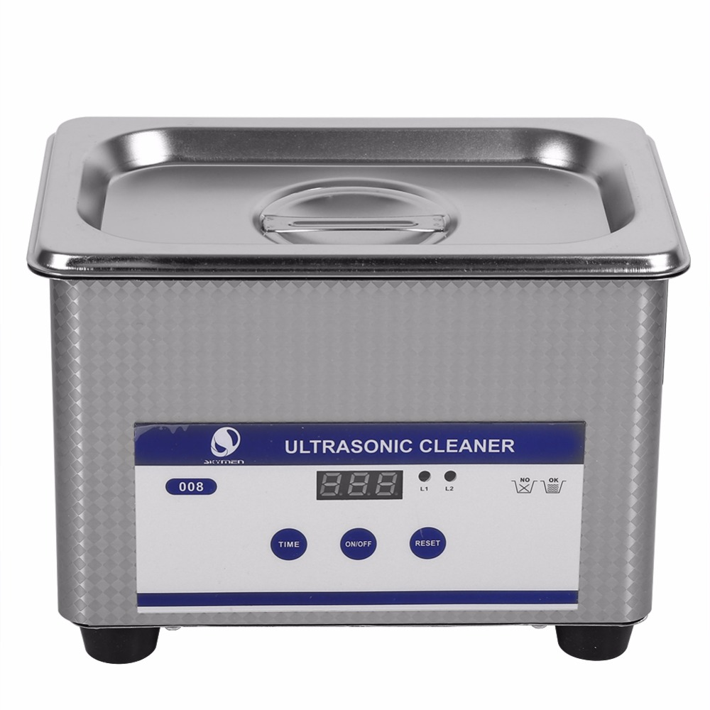 Stainless Steel 800ml 35W Timer Ultrasonic Cleaner Industry Heated Jewelry Eyeglass Watch Cleaner Cleaning Machine EU/US Plug derui auto parts ultrasonic cleaner with timer and heated dr mh30 3l