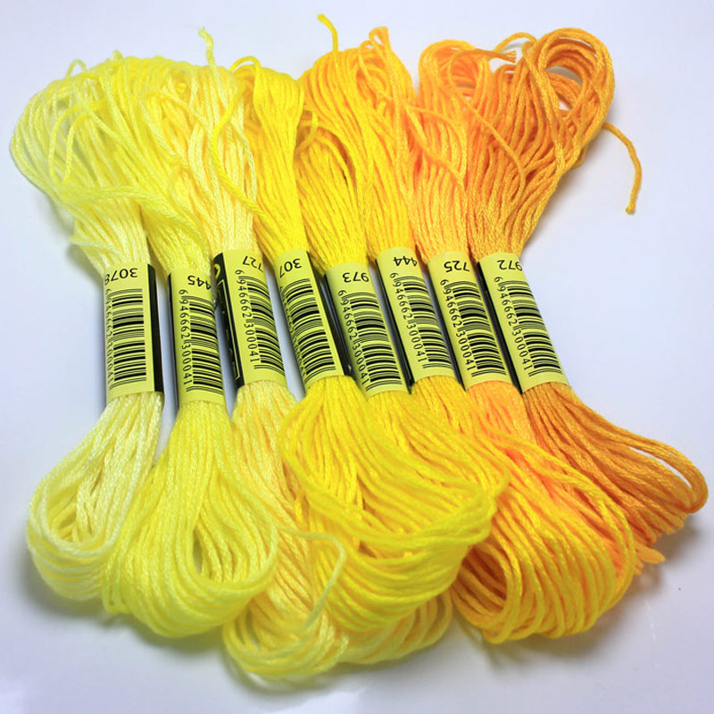 Cross Stitch thread The Unique Style 8 Cross Stitch Cotton Embroidery Thread Floss Sewing Skeins Craft Dofferent Gradient Color thread