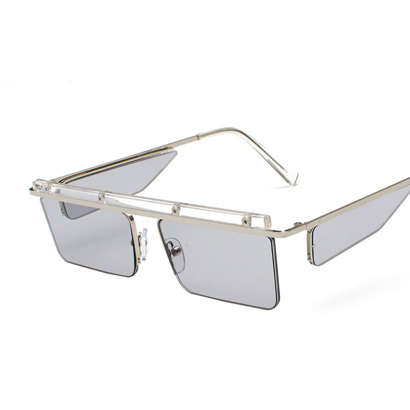 Stylish Design Four Lenses Square Lens Sunglasses Men's And Women's Sunglasses Luxury Glasses