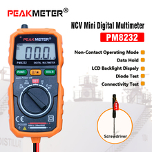 ФОТО  non-contact mini digital multimeter dc ac voltage current tester hyelec ms8232 free shipping