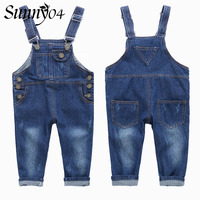 2017 New Spring Autumn Children S Overall Trousers Toddler Kids Denim Overalls Baby Girls Boys Casual
