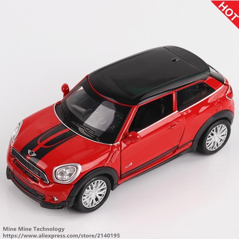 Doppel Pferde 1:32 Skala Goß Legierung Metall Auto Modell MINI Coopers Countryman Sammlung Modell Ziehen Auto Spielzeug für kinder