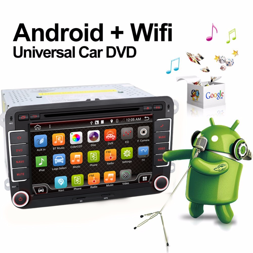 7 2 din android car dvd gps for vw golf 5 golf 6 polo. Black Bedroom Furniture Sets. Home Design Ideas
