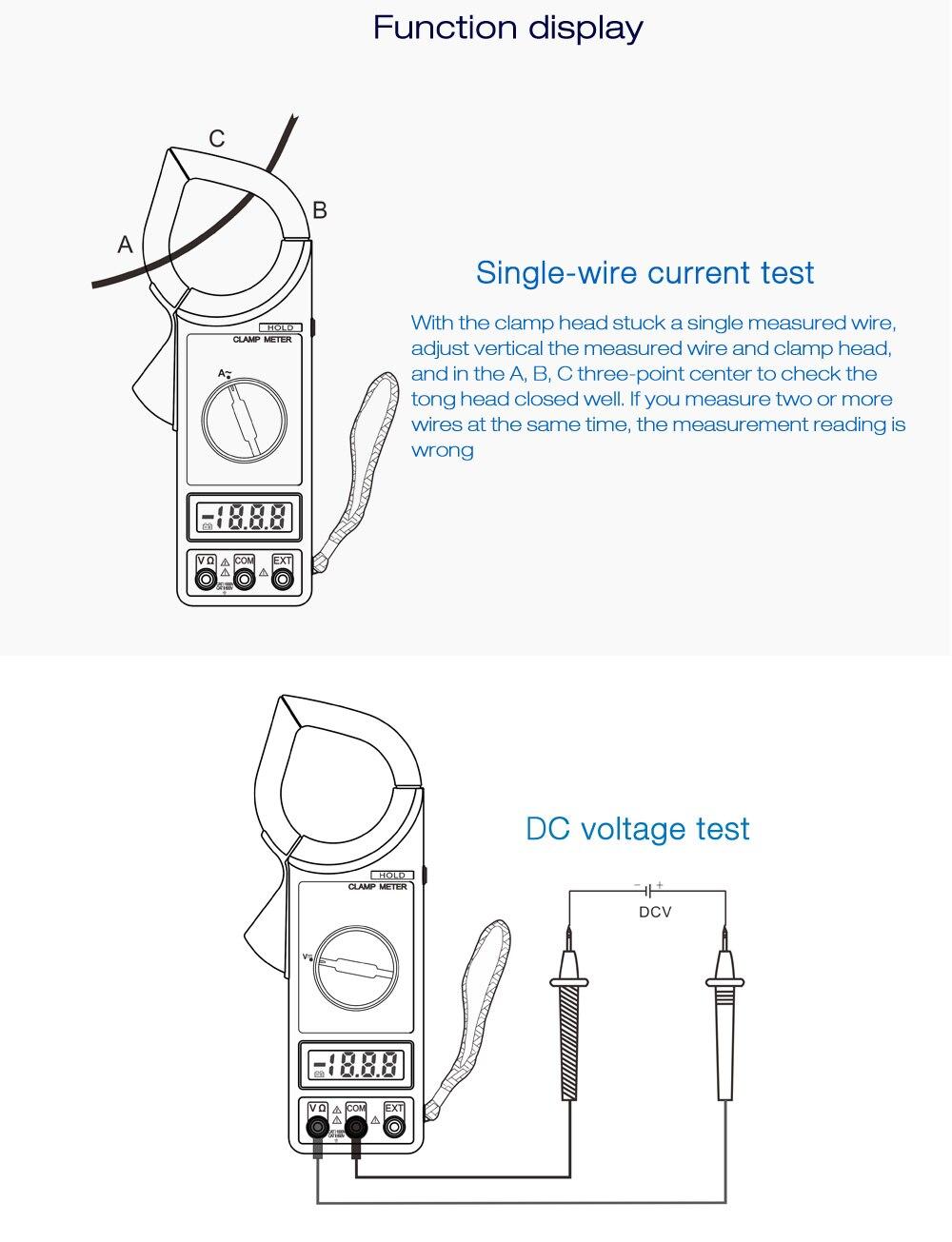 Whdz 266c Digital Clamp Meter K Typ Temperatur Tester 1000 V Kiefer Built Wiring Diagram Berlast Schutz Ja Auf Off Erkennung Und Summer Funktion Daten Retention Externe Expansion Test Kaliber 57mm