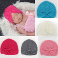 Baby Girls Knitted Wool Bohemian Hats Toddler Ski Hats Baby Winter Beanie Caps Wholesale Bonnet Enfant Photography Props Hats