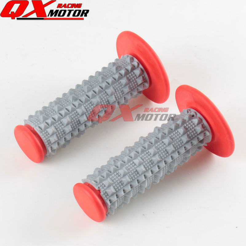 Red TPE rubber soft 3D Hand Grips Pit Dirt Bike Motocross Motorbike MX Girps Fit BSE Kayo CRF 7/8 Handlebar Grips Free shipping