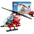 City Protector 9206 Small Particles Building Blocks Fire Helicopters Assemble Patrol Block Toys For Lepin Creativity Developing