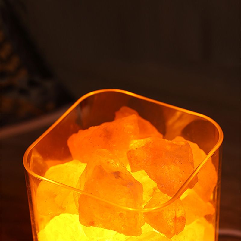Himalayan Crystal Salt lamp Dimmable Hand Crafted Natural Salt Light Crystal decor Night Light with Touch Dimmer Switch