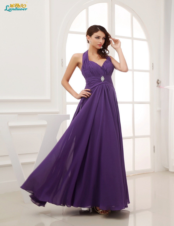 Online buy wholesale purple bridesmaids gowns from china purple charming beach bridesmaid dresses 2016 cheap halter long backless purple chiffon bridesmaid gown vestidos de madrinha ombrellifo Gallery